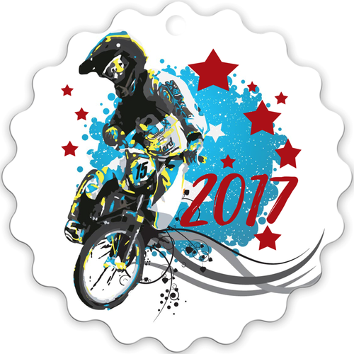 2017 BMX Metal Christmas Ornament