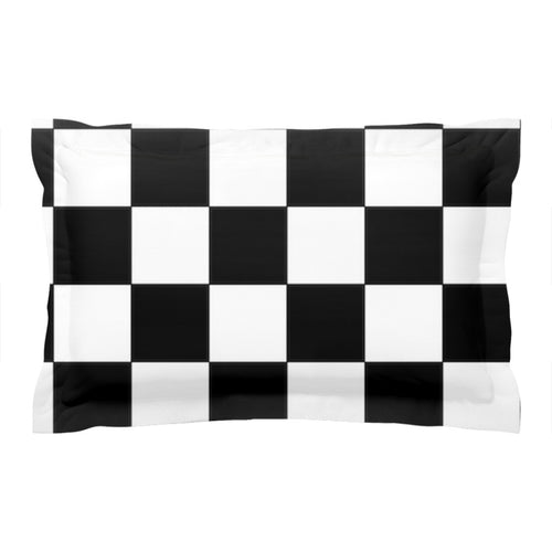 BMX Checkered Flag Pillow Sham