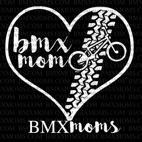 BMX Mom Heart Car Decal