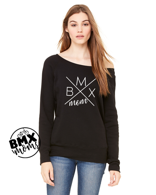 BMX Mom® X Logo Off The Shoulder Sweatshirt