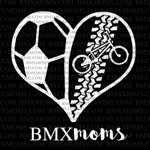 Soccer / BMX Mom Heart Car Decal