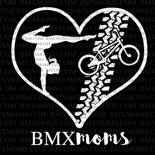 Gymnastics and BMX Mom Heart Car Decal