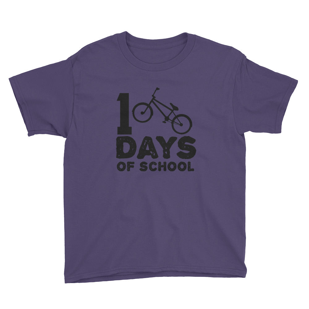100 Days of School BMX Youth Tee
