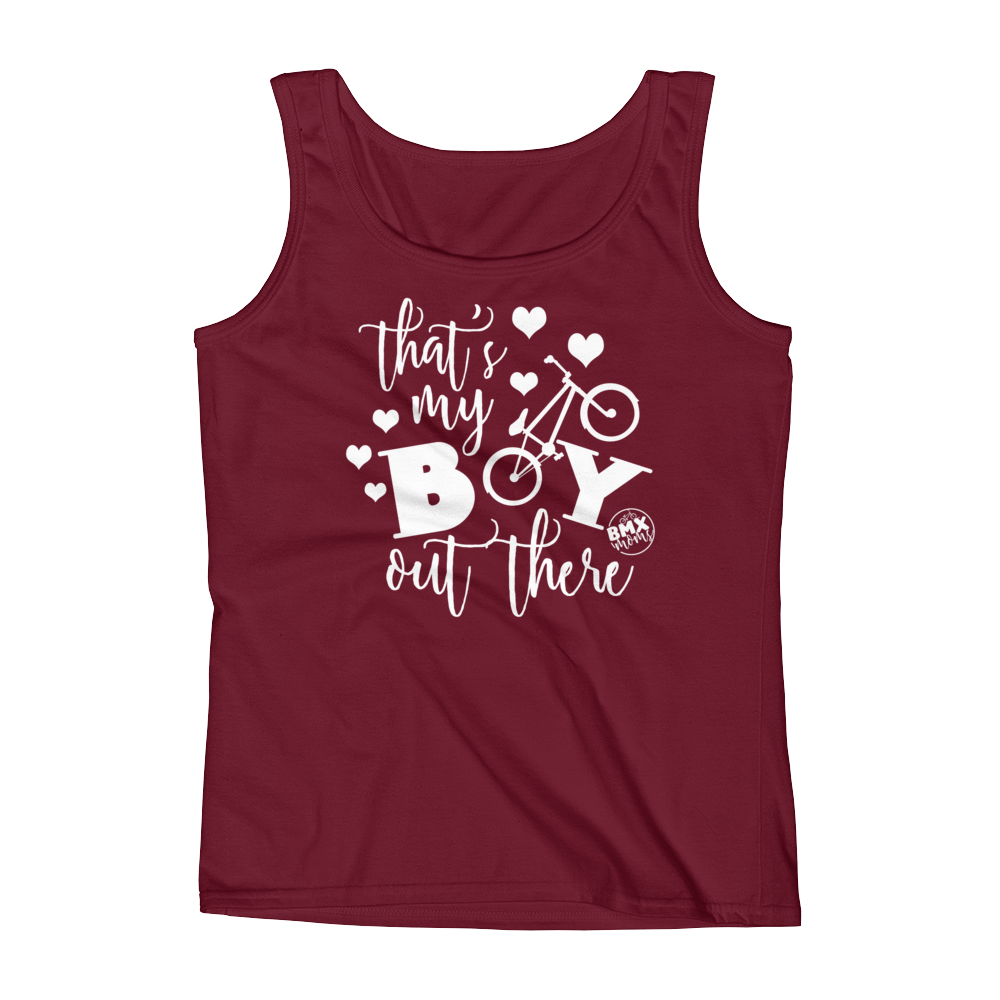 That's My Boy Out There BMX Mom Tank