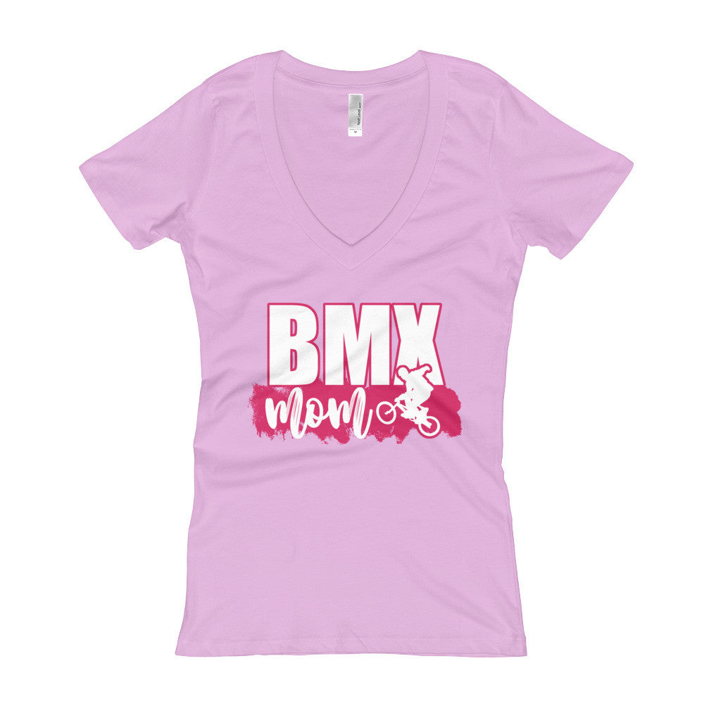 BMX Mom V-Neck T-shirt