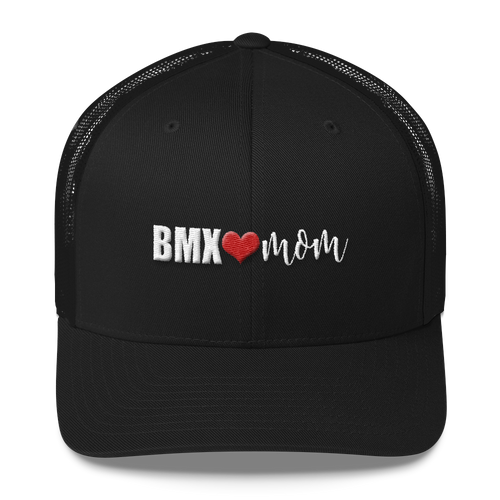 BMX Mom with Heart Trucker Cap
