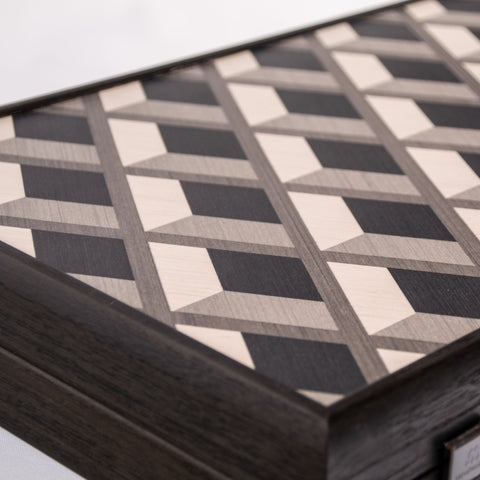 GRID WOOD ILLUSION Backgammon - Manopoulos