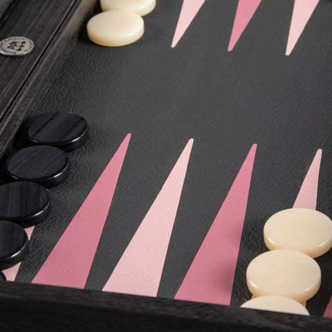 BLACK and DUSTY PINK Backgammon - Manopoulos