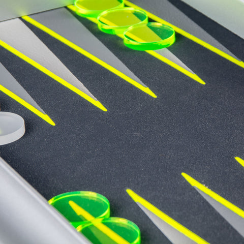 FLUO YELLOW UV Backgammon - Manopoulos