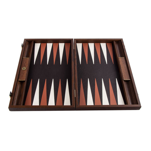 CROCODILE TOTE in ANTIQUE BROWN LEATHER Backgammon - Manopoulos