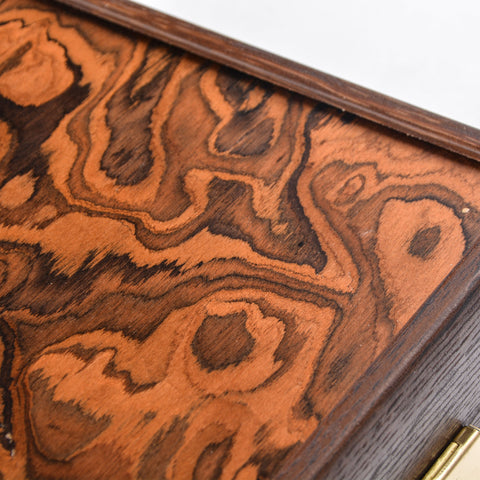 CALIFORNIA WALNUT BURL Backgammon - Manopoulos