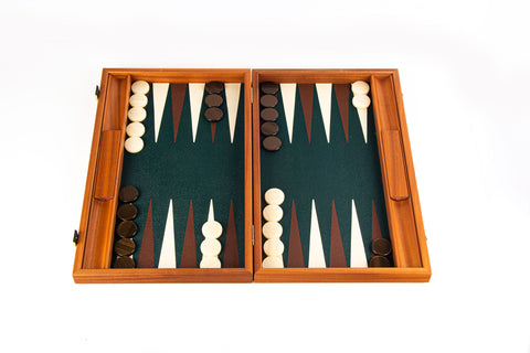 DARK GREEN Backgammon - Manopoulos