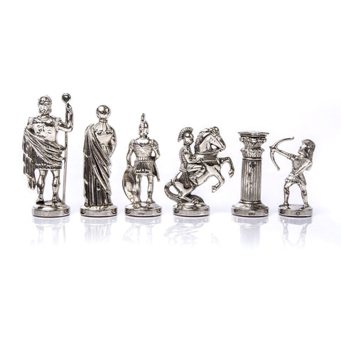 ARCHERS Chessmen  (Large) - Gold/Silver - Manopoulos