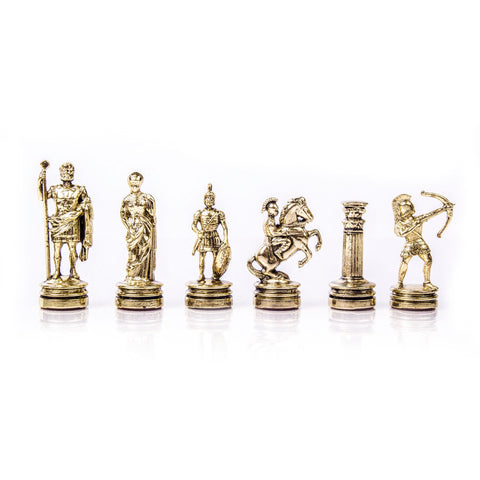 ARCHERS Chessmen (Small) - Gold/Silver - Manopoulos