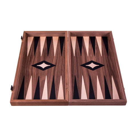 AMERICAN WALNUT Backgammon - Manopoulos