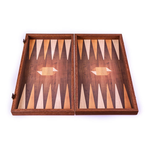 GEOMETRICAL WOOD MOTIF Backgammon - Manopoulos