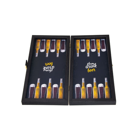 BEER - Travel Size Backgammon - Manopoulos