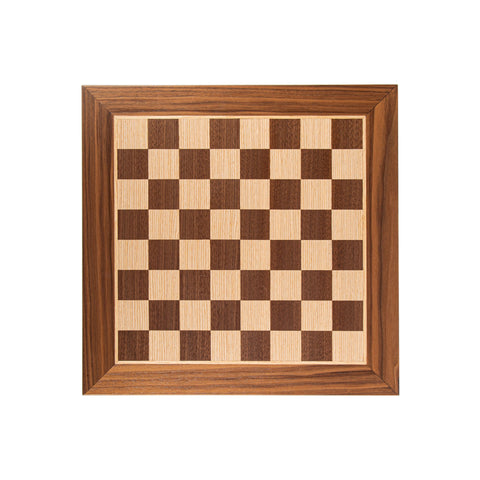 WANLUT WOOD & OAK INLAID handcrafted chessboard 40x40cm (Medium) - Manopoulos