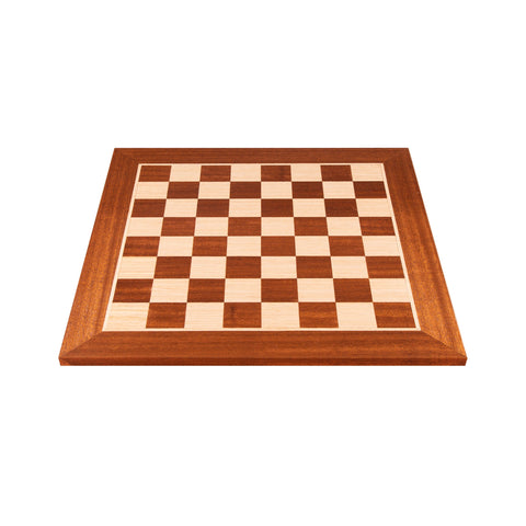 MAHOGANY WOOD & OAK INLAID handcrafted chessboard 40x40cm (Medium) - Manopoulos