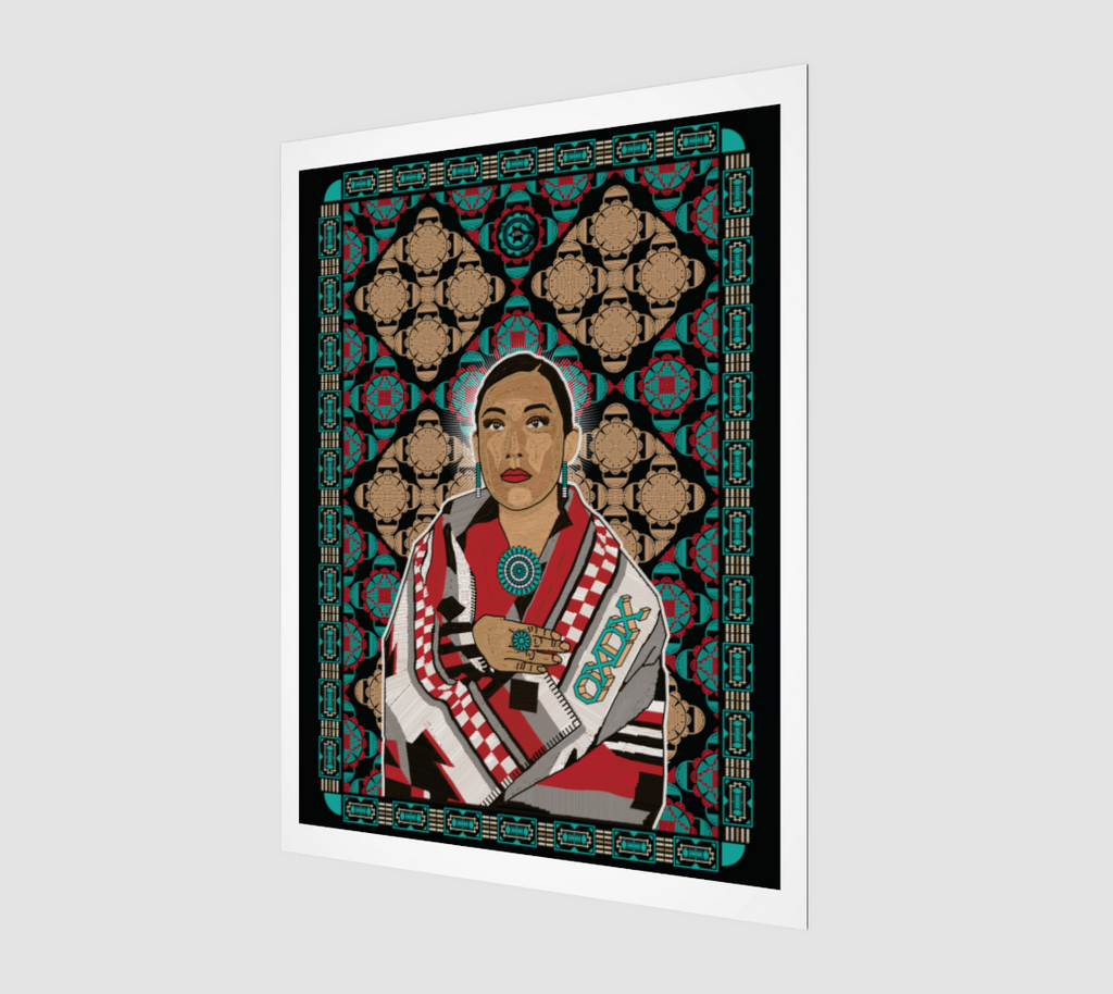 BEADED WOMAN (Art Print)