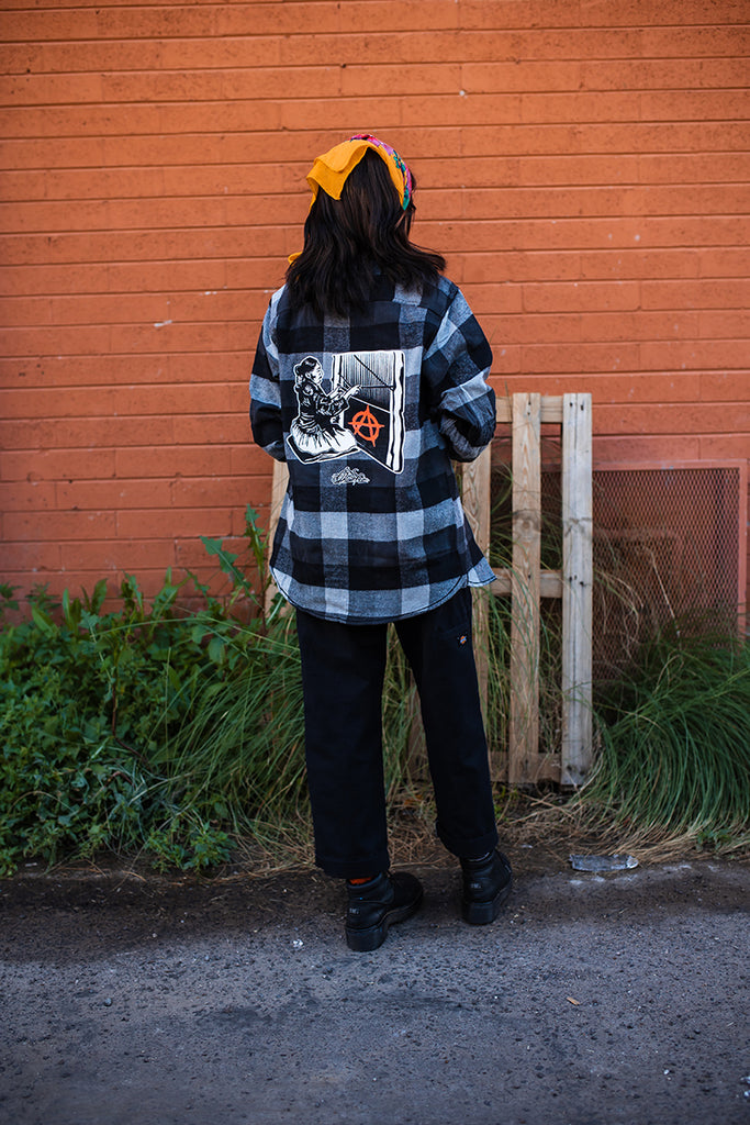 Grandma Anarchy Flannel (Black)