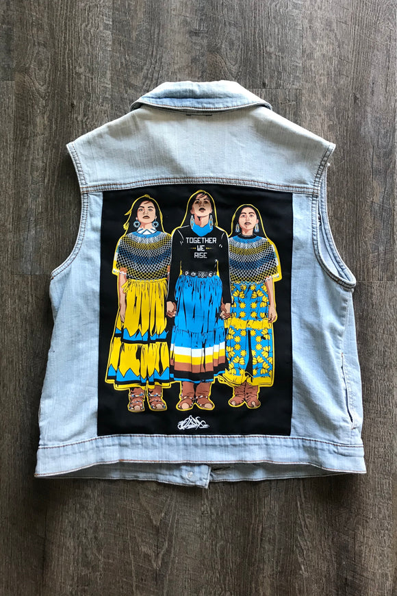 Together We Rise Denim Vest (Womxn's M)
