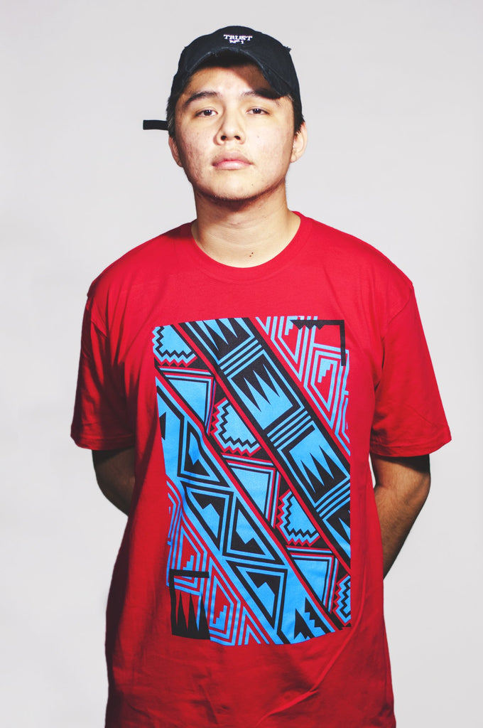 Pattern Tee (Red Men's Crew)