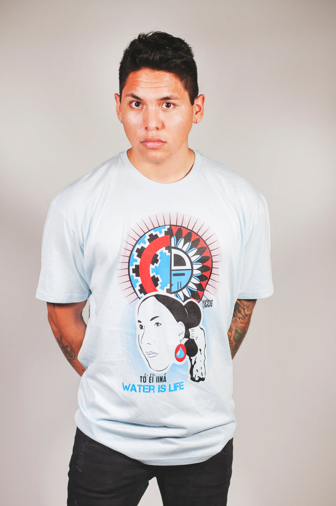 Water Is Life (Men's Light Blue Crew Tee)