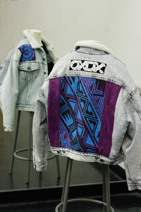 Purple Pattern Denim Jacket (Men's M)