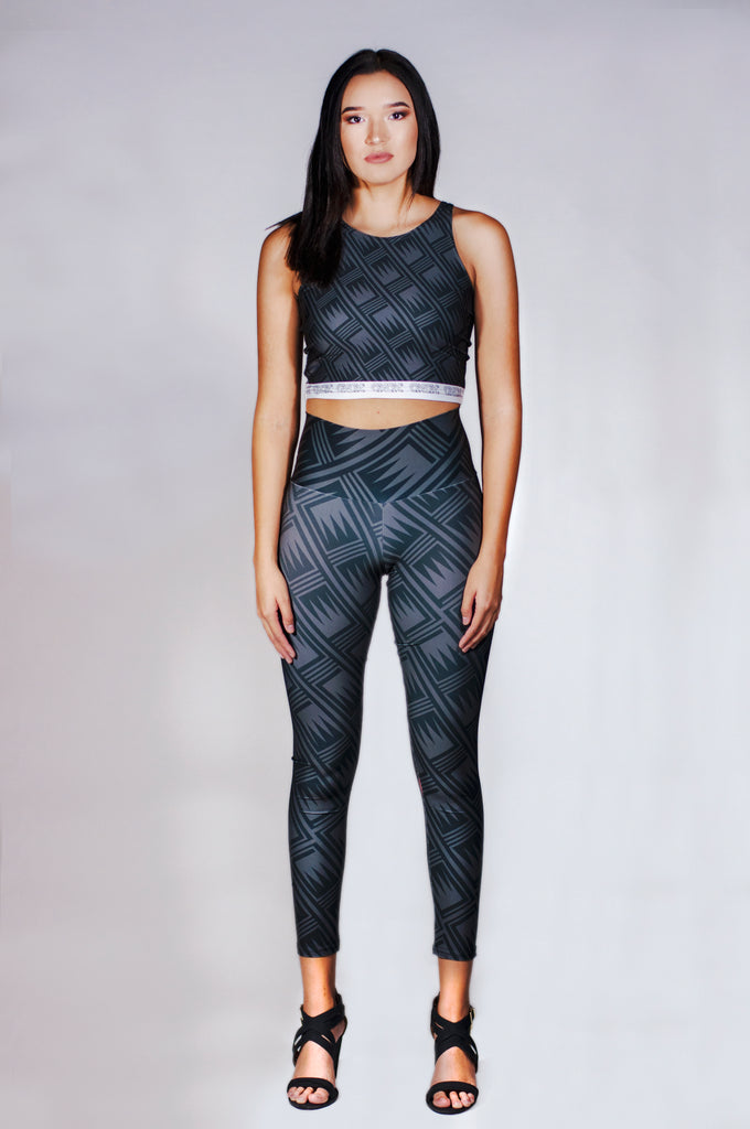 Black Pattern Leggings