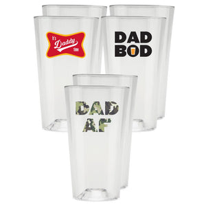 Perfect Pint® - Limited Edition, Funny Beer Gifts for Dad - 6 Pack - USA Made, BPA-Free, Unbreakable & Dishwasher Safe