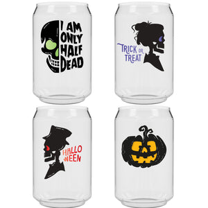 The Man Can Halloween 6pk - USA Made, BPA-Free, Unbreakable & Dishwasher Safe
