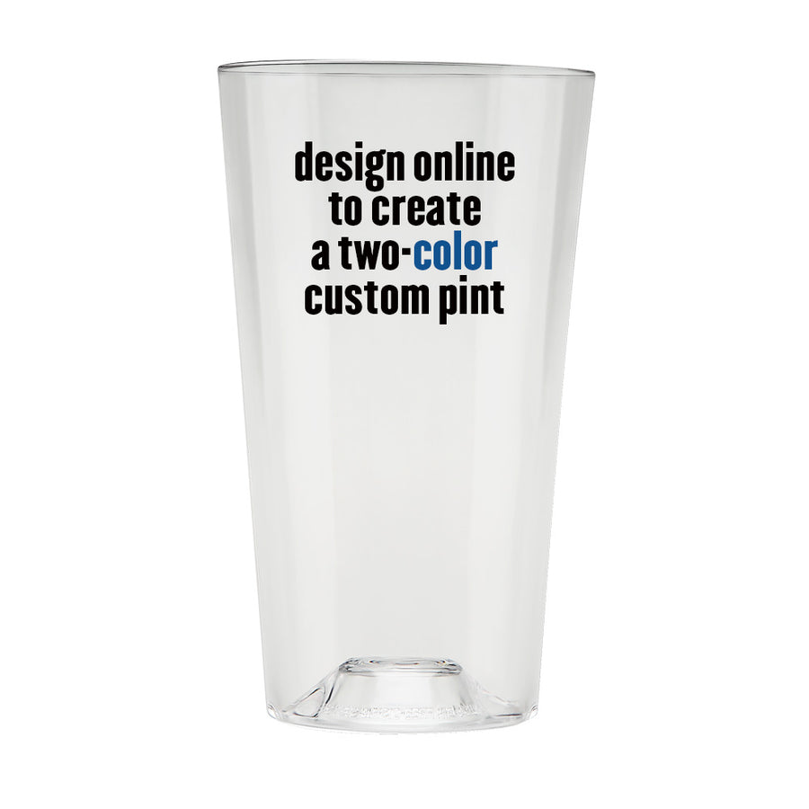 The Perfect Pint® - 48+, Two-Color Personalized - USA Made, BPA-Free, Unbreakable & Dishwasher Safe
