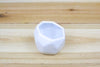 White Geometric Ceramic Container