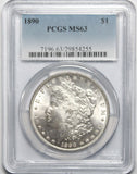 1890 P $1 Morgan Silver Dollar PCGS MS63
