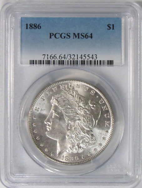 1886 $1 Morgan Silver Dollar PCGS MS64