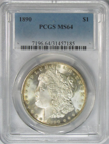 1890 $1 Morgan Silver Dollar PCGS MS64