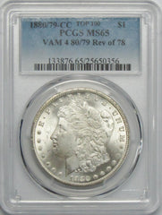 1880/79-CC Morgan Silver Dolar Top 100 Vam 4 80/79 Rev Of 78
