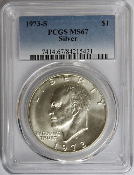 1973-S $1 Eisenhower Silver Ike Dollar PCGS MS67