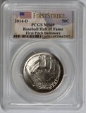 2014-D 50C Baseball Hall of Fame First Pitch Baltimore MS69 PCGS