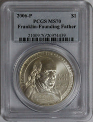 2006-P $1 Franklin-Founding Father Commemorative MS70 PCGS