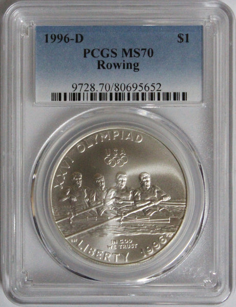 1996-D $1 Rowing Commemorative MS70 PCGS