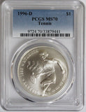 1996-D $1 Tennis Commemorative MS70 PCGS