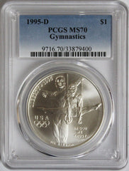 1995-D $1 Gymnastics Commemorative MS70 PCGS