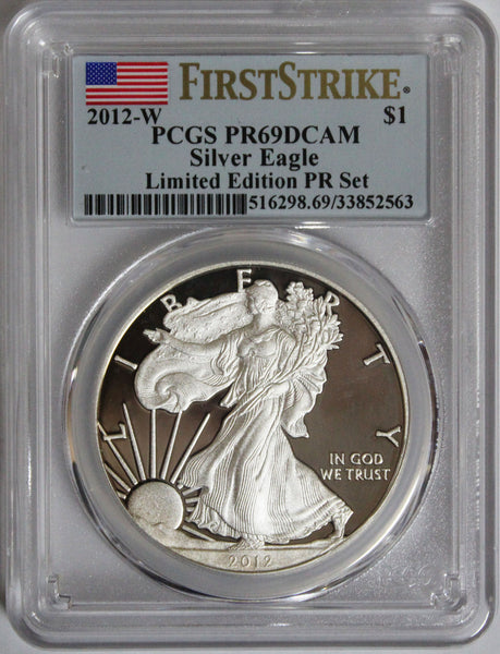 2012-W $1 Silver Eagle Limited Edition PR Set - First Strike PR69DCAM PCGS
