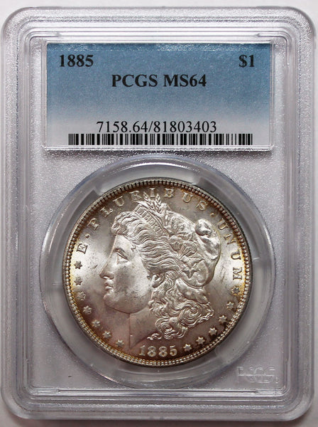 1885-P Morgan Silver Dollar PCGS MS64