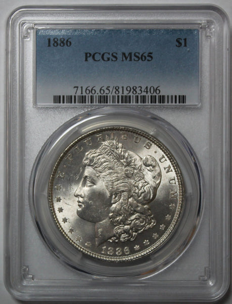 1886-P Morgan Silver Dollar PCGS MS65