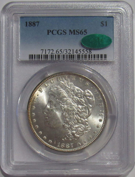 1887-P Morgan Silver Dollar PCGS MS65 CAC Approved
