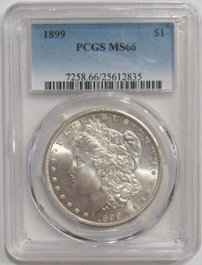 1899-P Morgan Silver Dollar PCGS MS66