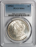 1878-S $1 Morgan Silver Dollar MS64 PCGS